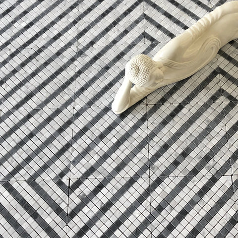 MATRIX CARRARA AND BARDIGLIO WATERJET MOSAIC