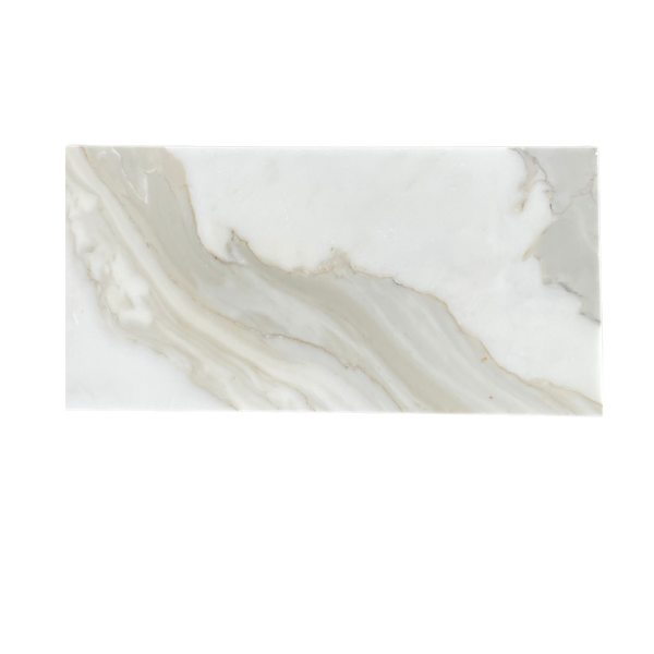 "Calacatta  Marble Tile Polished 12""x24""- $36/SF"