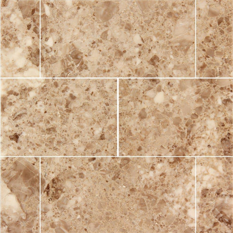 Cappuccino 3x6 Polished Marble Subway Tile