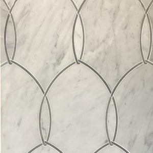 Gentle Net Bianco Waterjet Mosaic