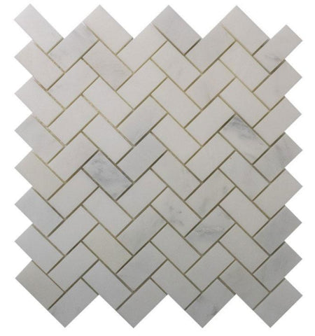 Arabescato  3/4x2 Marble Herringbone Polished Tile