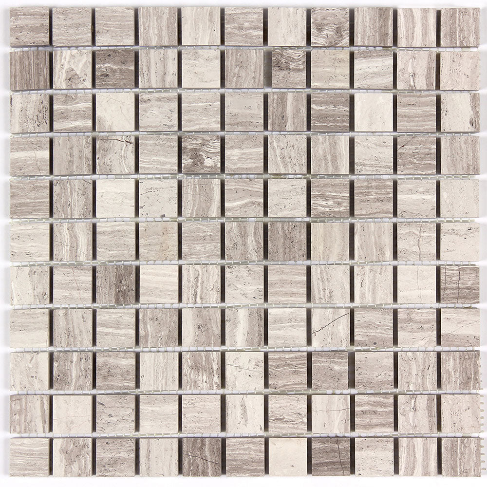 Timber White Marble 1x1 Wall And Floor Mosaic Tile