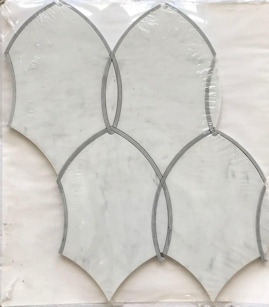 Gentle Net Waterjet Mosaic Bianco Carrara
