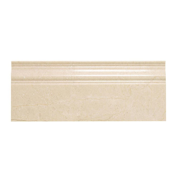 Crema Marfil Polished Marble 5x12 Base Moulding