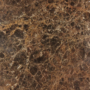 Dark Emperador 12x12 Polished Marble Tile