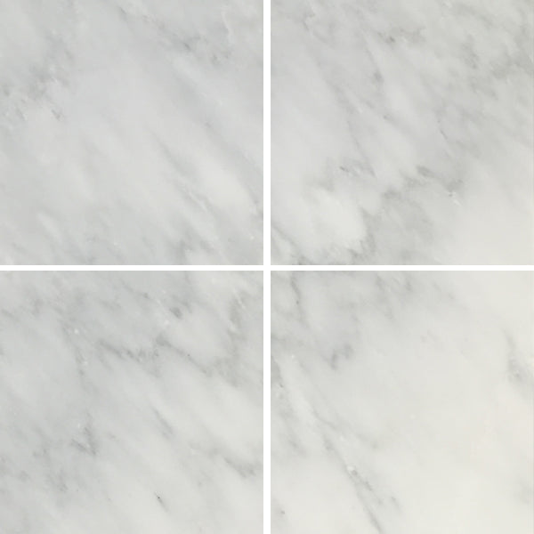 Arabescato Carrara 6x6 Honed and Polished Marble Floor And Wall Tile