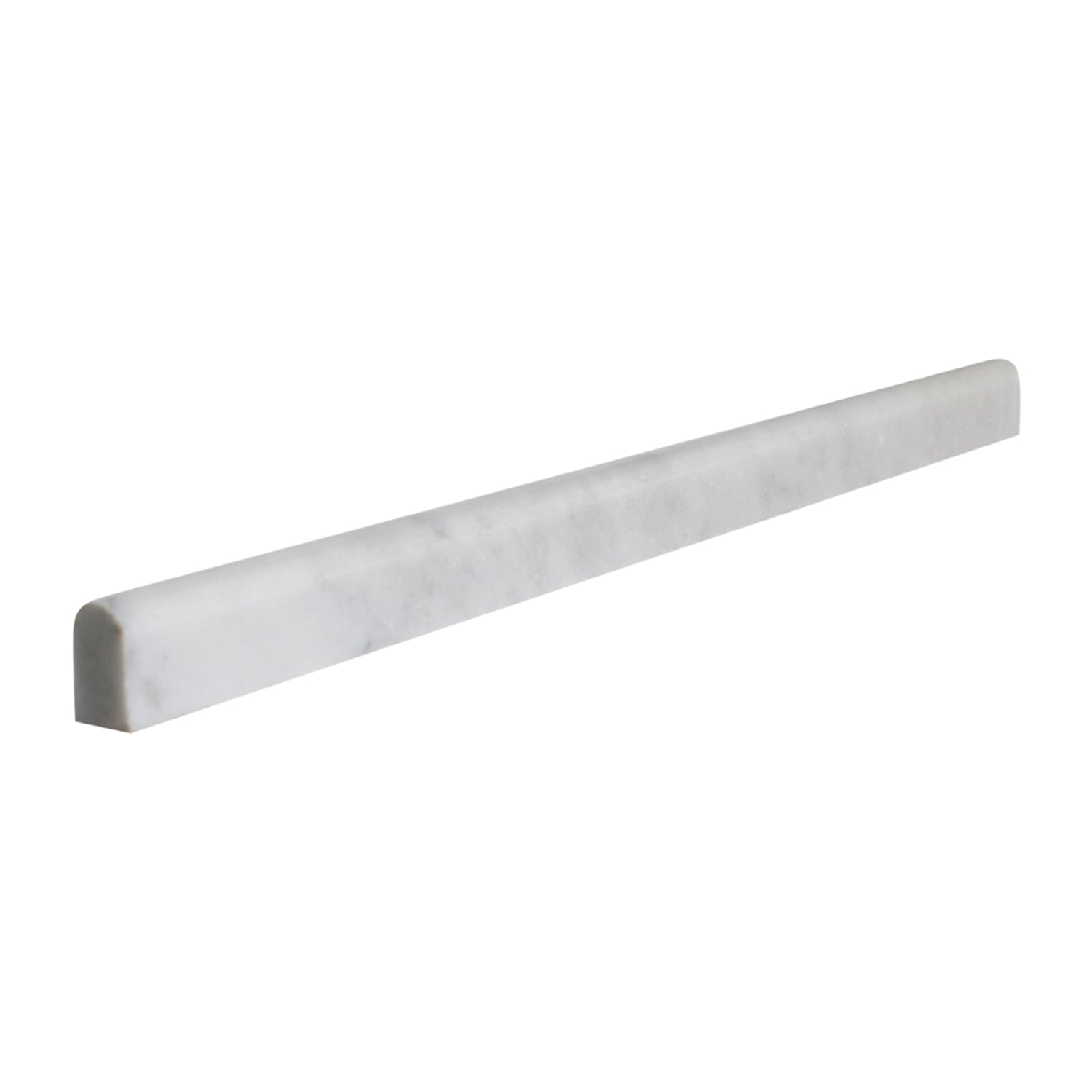 Bianco Carrara 1/2x12 Marble Pencil Moulding