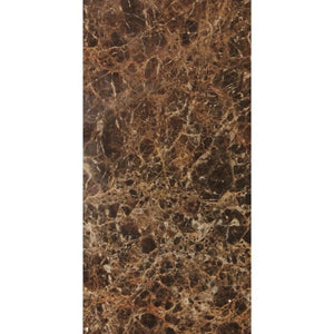 Dark Emperador 6x12 Polished Marble Tile