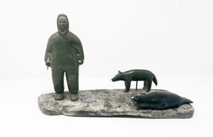 INUK WITH SEAL AND DOG -ETUKTU