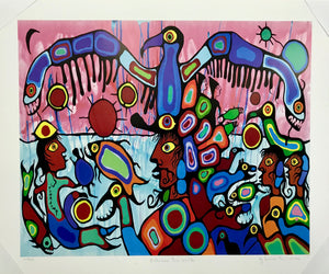 BETWEEN TWO WORLDS (print) - NORVAL MORRISSEAU