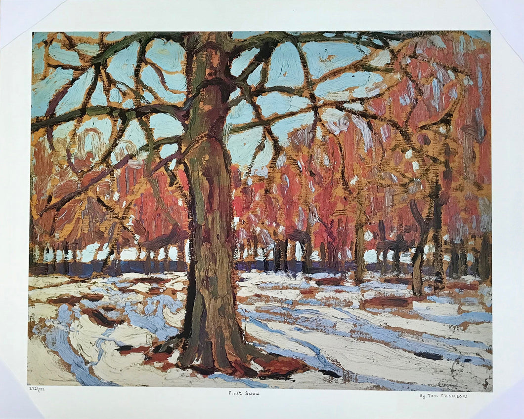 FIRST SNOW (print)  TOM THOMPSON
