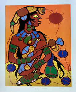 MAN CHANGING INTO THUNDERBIRD  (print) - NORVAL MORRISSEAU