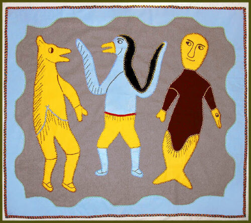 THREE TRANSFORMING SPIRITS - IRENE AVAALAAQIAQ WALLHANGING