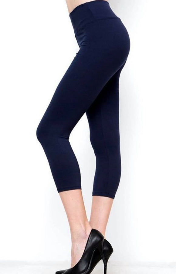 solid colored with wide band and high waisted leggings for women yoga wear
