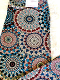 capris mandala print buttery soft comfortable high waist