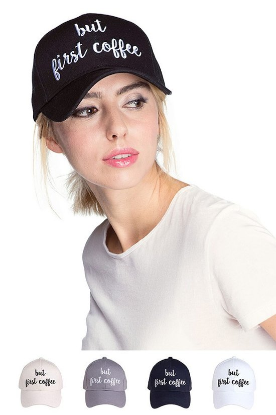 cc but first coffee embroidery design cotton cap hat
