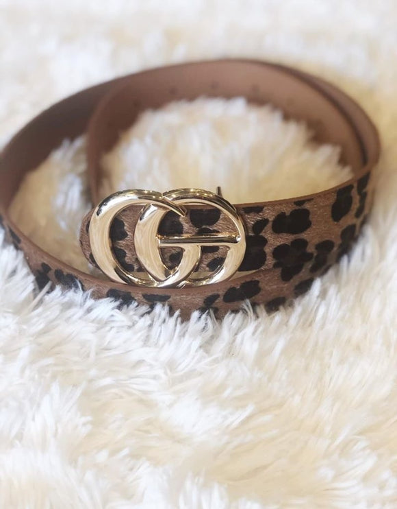 leopard gg metal ring belt