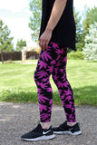 regular size comfortable leggings made of buttery soft polyester material and 8 spandex