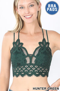 CHRYSTAL CROCHET LACE WITH REMOVABLE PADDING