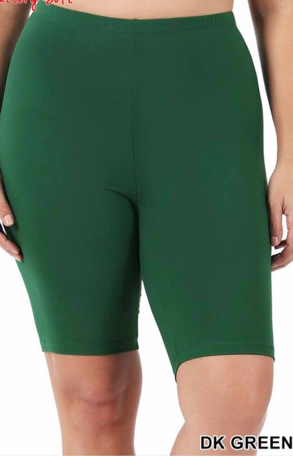 CURVY SOFT BIKER SHORTS