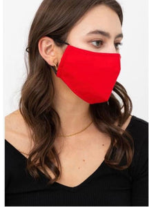 cotton reusable washable breathable mask with pocket for filter and three layers