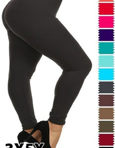 curvy soft leggings for everyday wear yoga wear casual high waistband