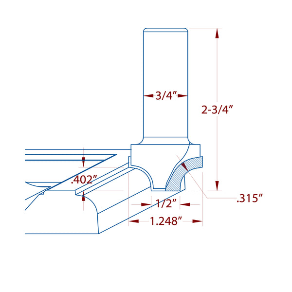 "PCD Diamond ""16"" MDF Door Bit"