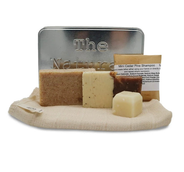 Zero Waste Travel Kit - On the go Kit Fresh - Travel Wash kit - Shampoo - Conditioner - Soap