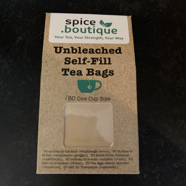 self-fill biodegradable tea bags - unbleached (50)