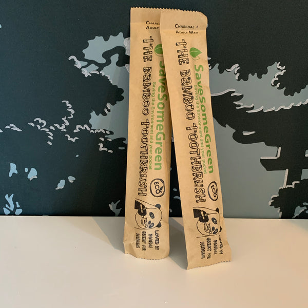 Save some green bamboo toothbrush - various