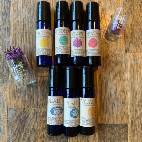 Floating Feather - Essential Oil Roll on chakra balancing set