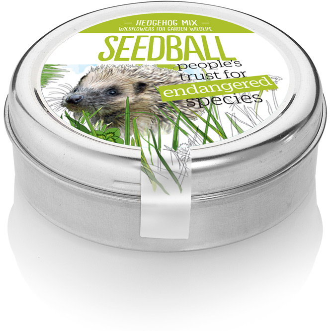 Seedball hedgehog mix seed tin 🦔