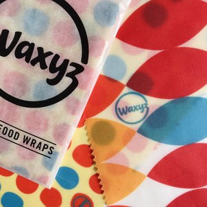 waxyz reusable wax food wraps - twin pack