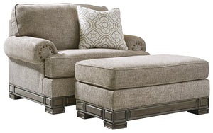 Einsgrove Signature Design 2-Piece Chair & Ottoman Set image