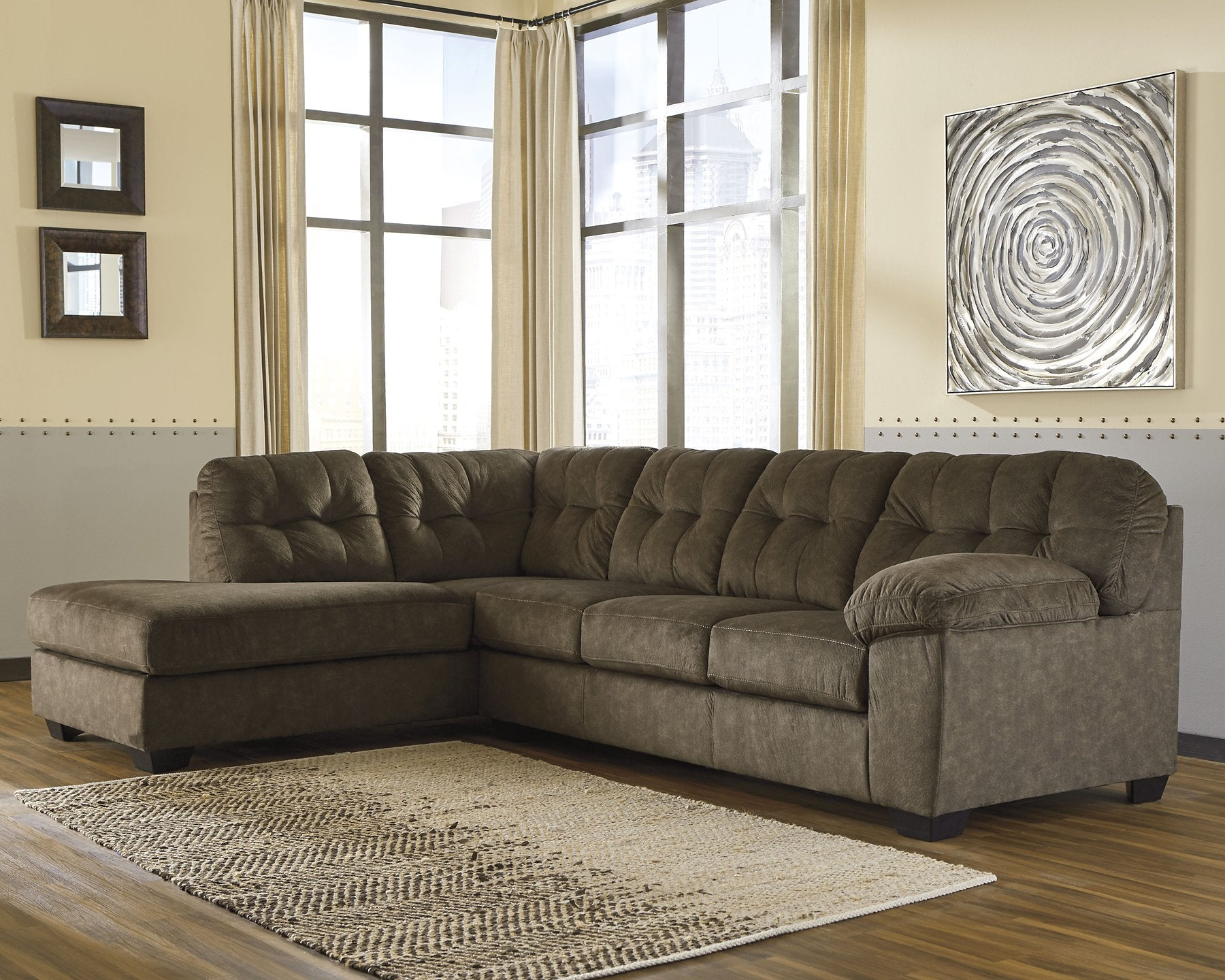 Accrington Signature Design by Ashley 2-Piece Sectional with Chaise