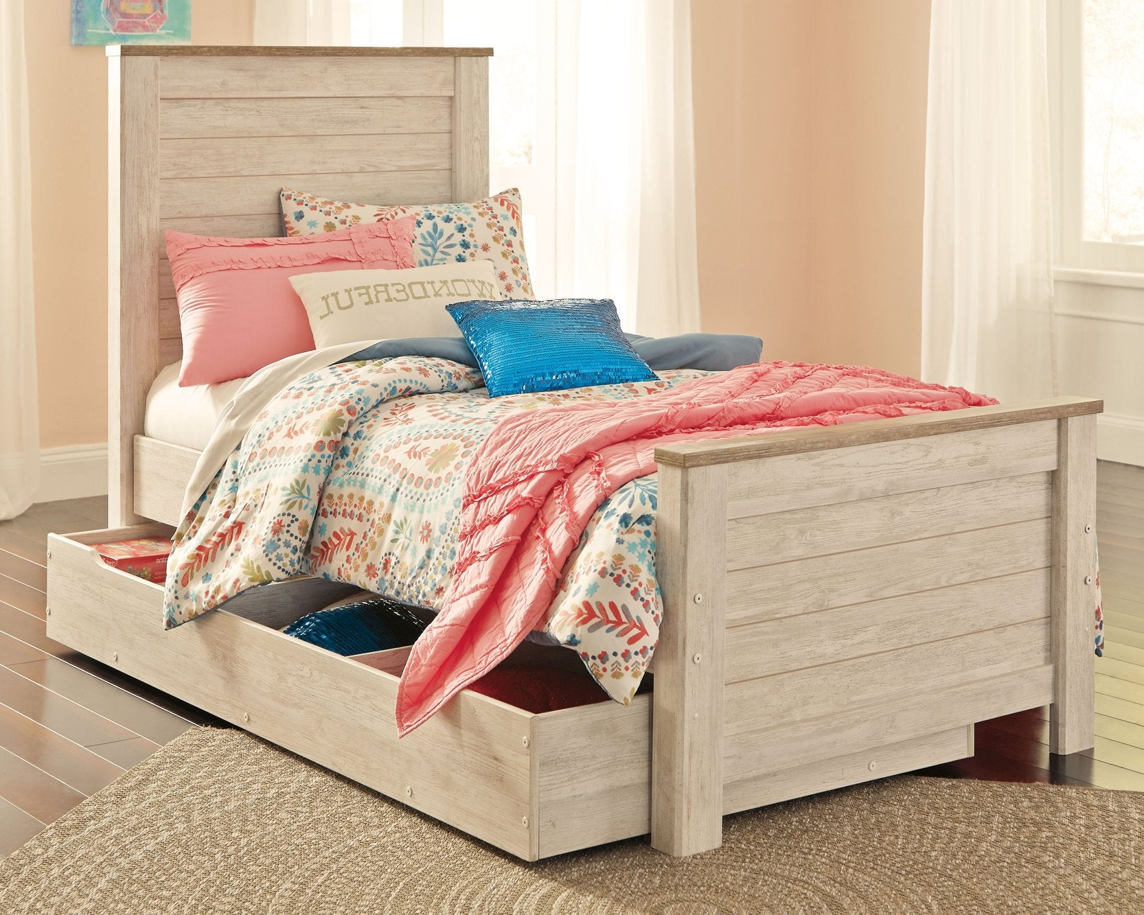 Willowton Signature Design by Ashley Bed with Storagfe Drawer image