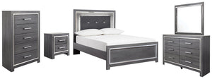 Lodanna Signature Design 7-Piece Bedroom Set with Chest of Drawers