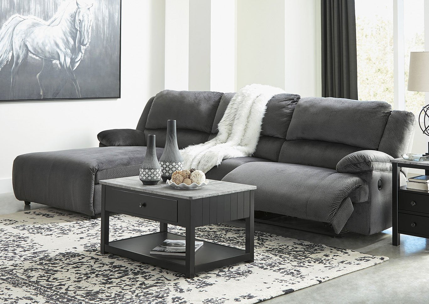 Clonmel Signature Design by Ashley 3-Piece Power Reclining Sectional with Chaise image