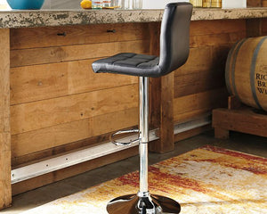 Bellatier Signature Design by Ashley Tall UPH Swivel Barstool2CN image