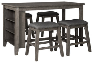 Caitbrook Signature Design Counter Height Table 5-Piece Dining Room Package