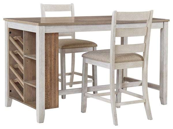 Skempton Signature Design Counter Height Table 3-Piece Dining Room Package