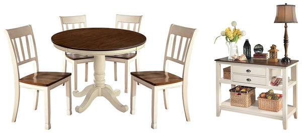 Whitesburg Signature Design Dining Table 6-Piece Dining Room Package