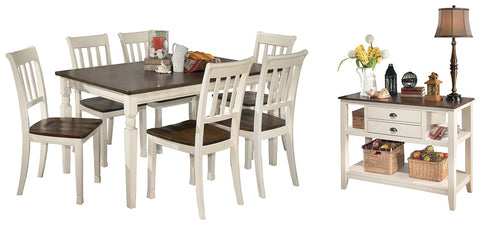 Whitesburg Signature Design 8-Piece Dining Room Package image