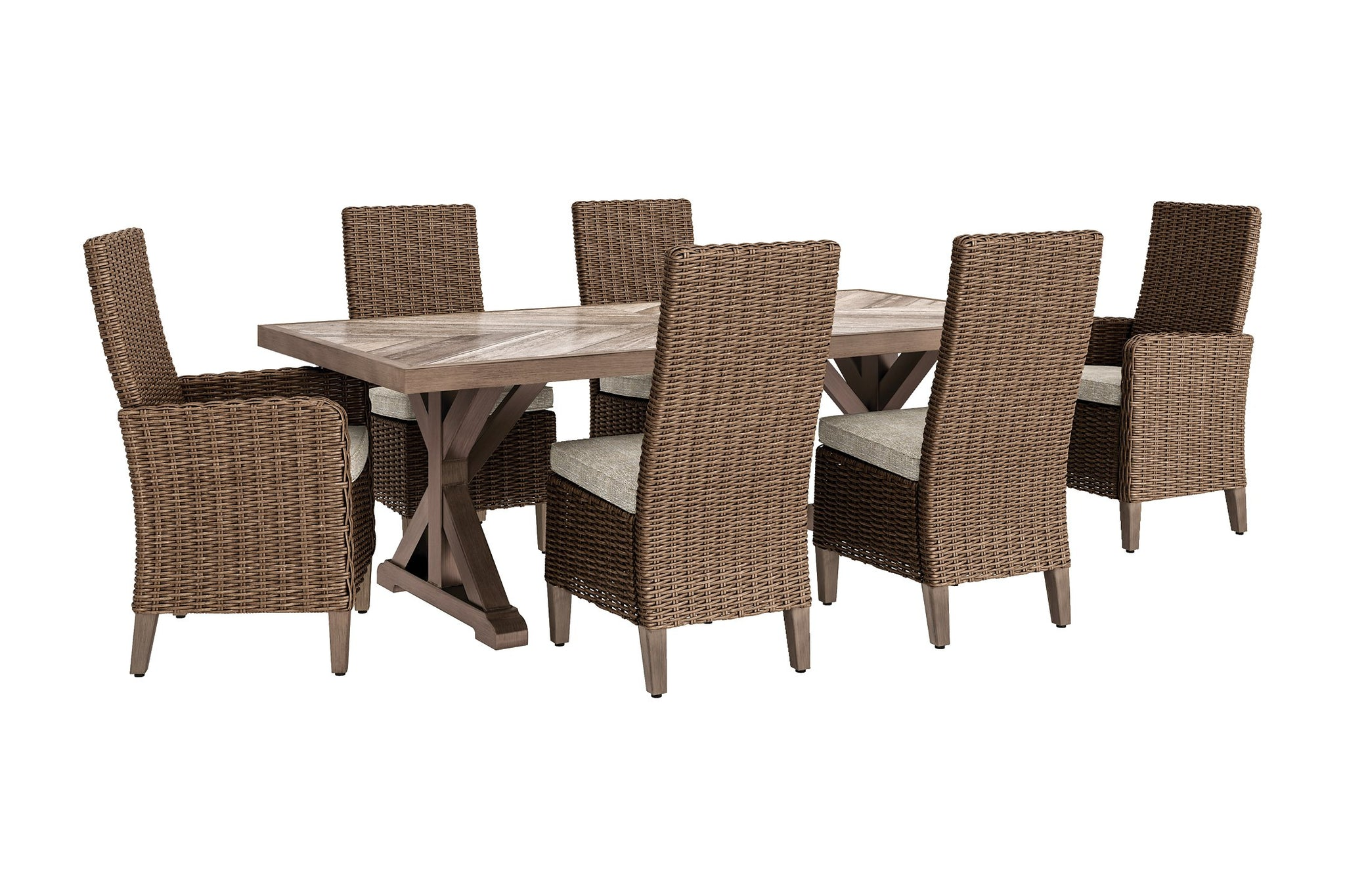 Beachcroft Signature Design 7-Piece Outdoor Dining Set image