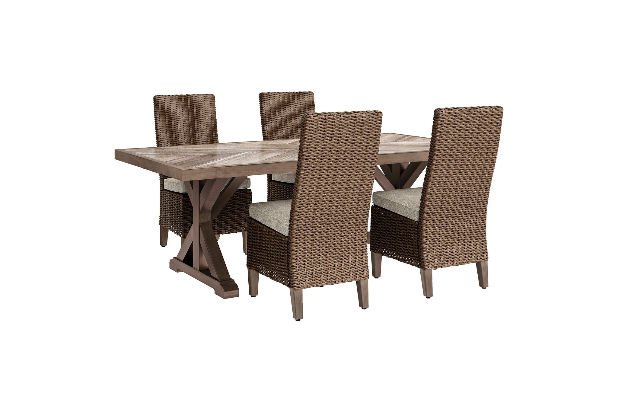 Beachcroft Signature Design Dining Table 5-Piece Outdoor Dining Set