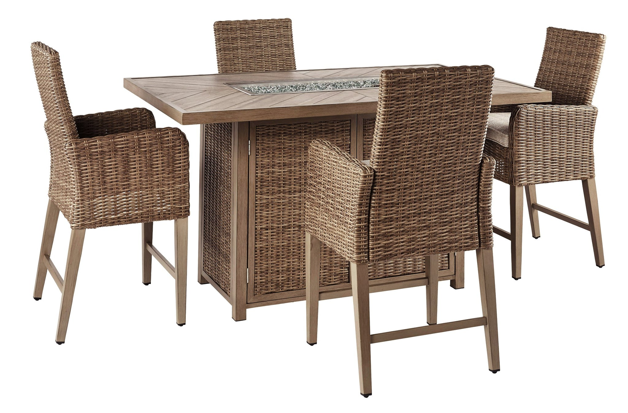 Beachcroft Signature Design 5-Piece Outdoor Bar Table Set