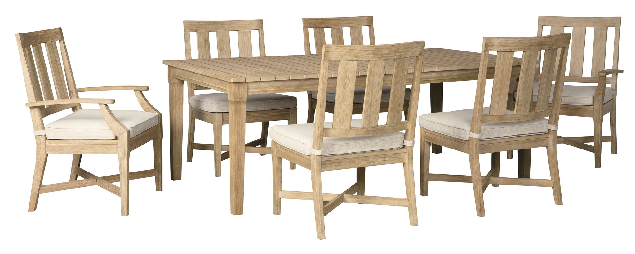 Clare View Signature Design 7-Piece Outdoor Dining Set