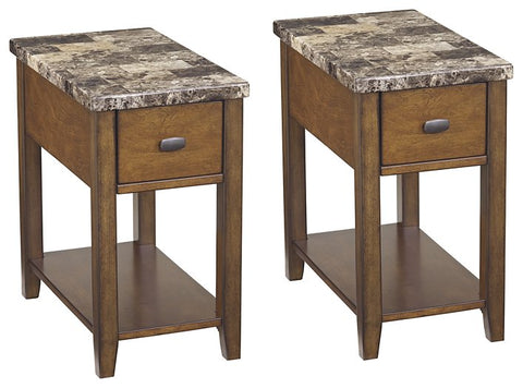 Breegin Signature Design End Table Chair Side 2-Piece End Table Package
