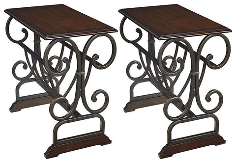 Braunsen Signature Design End Table Chair Side 2-Piece End Table Package