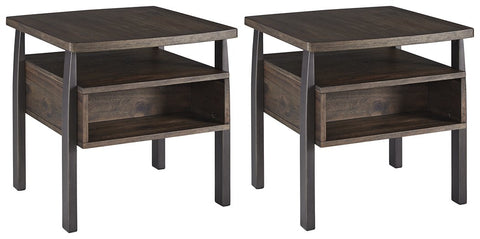 Vailbry Signature Design End Table 2-Piece End Table Package